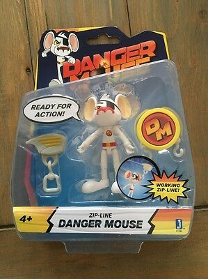 Danger Mouse - Working Zip Line Danger Mouse - Brand New