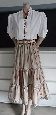 German Austrian Dirndl Skirt+  Blouse + Belt Outfit 12
