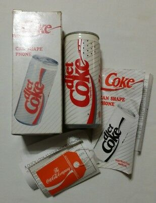 Diet Coke Can Shaped Phone 1994 Model Ar-5021 Coca Cola Collectible In Box