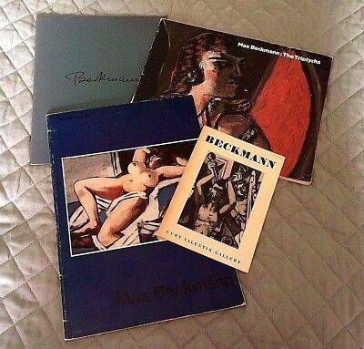 4 exhibition catalogs - Max Beckmann - 1954, 1974, 1980, 1984