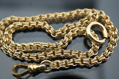 Antique gold filled pocket watch chain/fob
