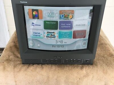 Sony pvm-14N2U COLOR VIDEO MONITOR with ROAD CASE