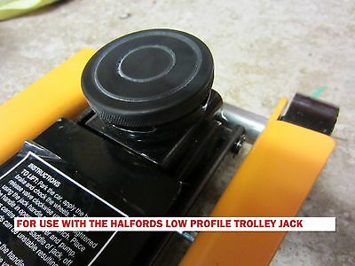 HALFORDS Trolley jack Rubber protection pad for LOW PROFILE  jacking pad tool