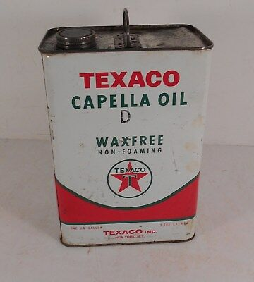 Vintage 1966 1 Gallon Texaco Capella Oil D Waxfree Oil Can