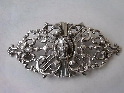 Heavy Antique Solid Sterling Silver 2-Part Buckle 1900/ L 12.1 cm/ 81 g