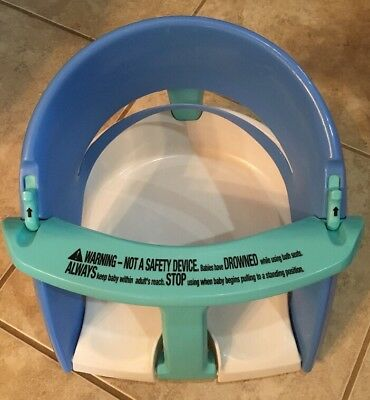 Dream Baby Safety Infant Toddler Folding Bath Seat Blue/White