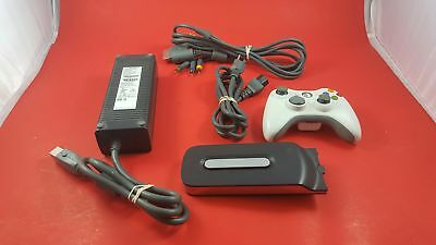Bundle of 5 Xbox 360 Accessories [Controller, HDD, AC Adapter, Component Cable]