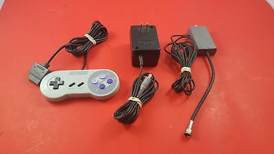 Super Nintendo SNES Controller, AC Adapter & RF switch [Official Original OEM]