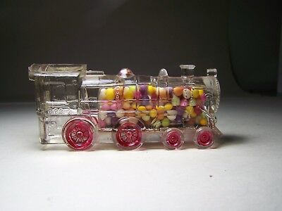 Locomotive Single Window 888 Glass Candy Container