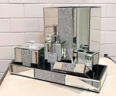 Bella Lux Mirror Crystal Rhinestone Luxury Bathroom