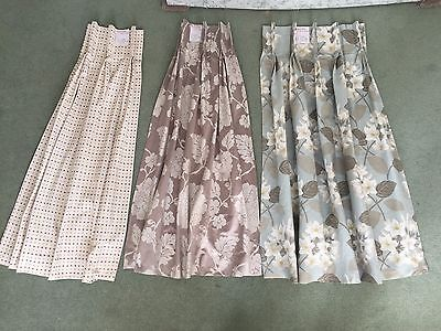 Job Lot Ex Display lined curtains- good quality. 3 lined curtains