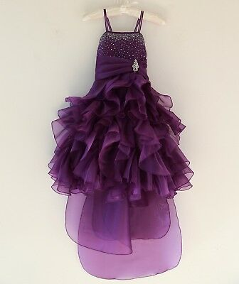 Organza Pleated Ruffled Flower Girl Dresses Bridesmaid Wedding Birthday Pageant