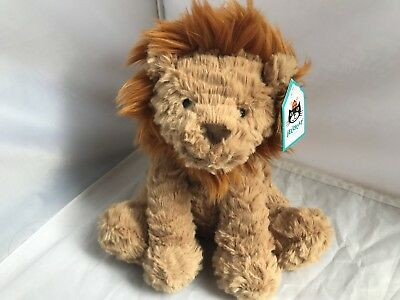 """Jellycat  Medium Fuddlewuddle Lion Plush NEW WITH TAGS NWT 9"""" SO SOFT FLUFFY"""