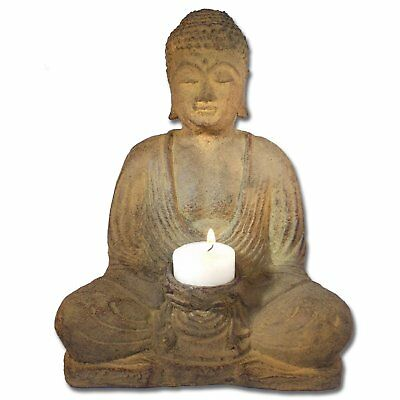 "Meditating Buddha with Candle Holder 8.5"" High"