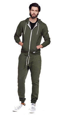 Adam Levine Men's Heathered Fleece Hoodie and Sweatpant Set Green Size Large New