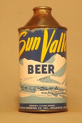 WOW! Indoor Sun Valley Cone Top Beer Can - Pocatello, ID - No Reserve!