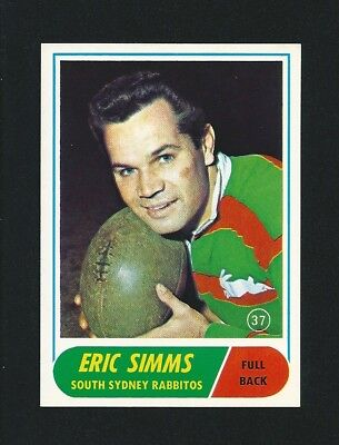 Investment Quality 1969 Scanlens Rugby Eric Simms Souths #37 Stunning