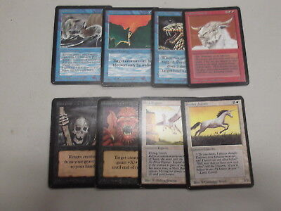 Magic MTG Cards Lot Alpha Collection x8 Common OLD Vintage Old School