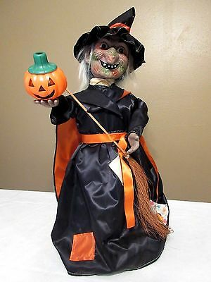 """Vtg 1980's """"Rennoc"""" Motionette Witch Animated/Lighted Halloween Decoration - 21"""""""