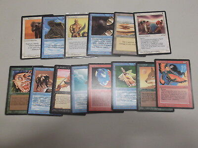 Magic MTG Cards Lot 14x Arabian Nights Partial Set Collection Old Vintage