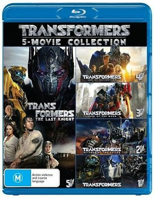 Transformers - 5 Movie Bluray Pack  (The Last Knight etc) BRAND NEW & SEALED