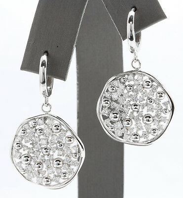 1.35CTW Natural VS1-VS2 / F-G Diamonds in 14K Solid White Gold Women Earrings