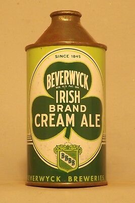 NICE Indoor Beverwyck Irish Cream Cone Top Beer Can - Albany, NY - No Reserve!