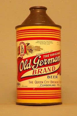 NICE Indoor Old German Cone Top Beer Can - Cumberland, MD  Variation No Reserve!