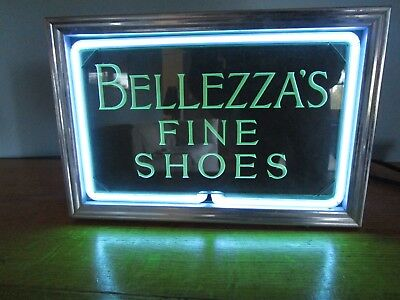 Vtg Antique Early Neon Lighted Store Advertising Sign Neon Products Inc