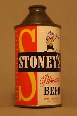 Pristine! Stoney's Cone Top Beer Can - Jones Brewing, Smithton, PA - No Reserve!