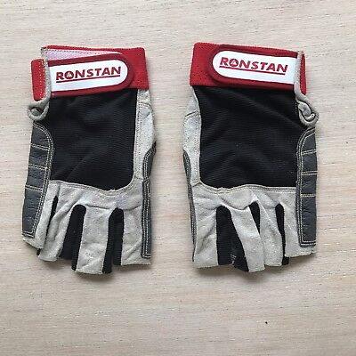 GLOVES  - Ronstan Sailing Race Gloves - Leather & Suede - Cut Fingers - Small