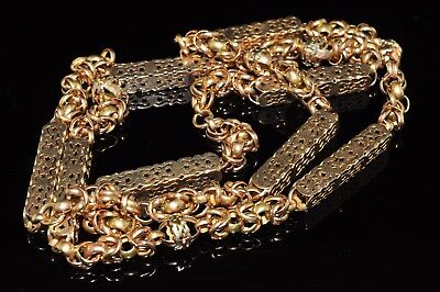 Antique Victorian 10k Rose Gold Pocket Watch Chain (repair)