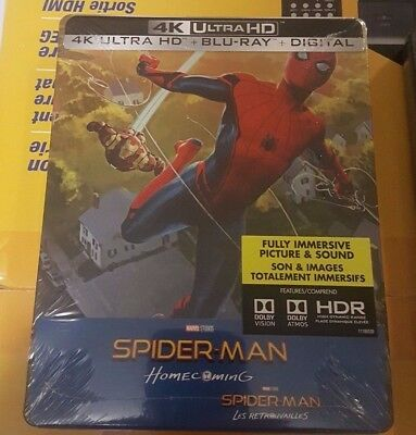 Spider-Man Homecoming Best Buy Exclusive Steelbook (Blu-ray + 4K UHD) NEW!!