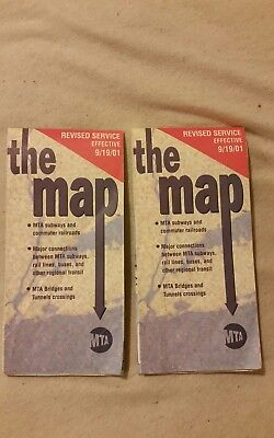 9/19/2001 The (ULTIMATE) MAP SPECIAL NEW YORK CITY SUBWAY MAP 1 Week After 9/11