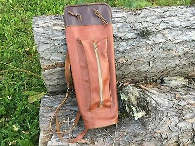 Vintage Leather Back Quiver for Traditional Archery Hunting
