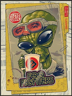 Foo Fighters Concert Poster The Metro Chicago IL 8/4/17 Roswell Alien 420 Print