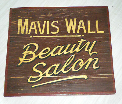 Vintage c1920's Hand Painted Timber Beauty Salon Sign