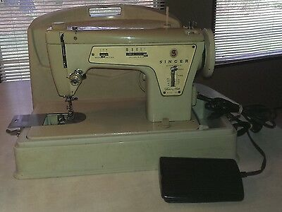 "VTG Singer ""Industrial Strength"" Heavy Duty Sewing Machine 237~Portable~Works"