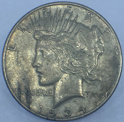 1934 P United States Peace Type Silver Dollar