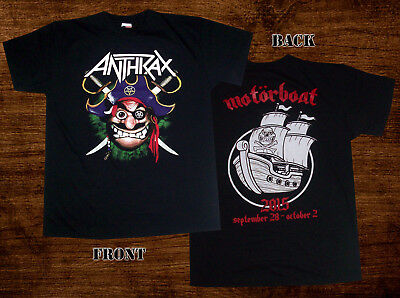 ANTHRAX - motorboat 2015 Unofficial T SHIRT Slayer Megadeth Metallica The Big4