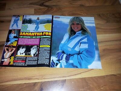 Samantha Fox article from Sweden