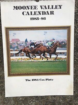 Calendar - Moonee Valley 1985-1986 - 1984 Cox Plate Cover - Horse Racing