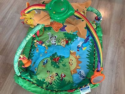 Fisher Price Baby Play Mat - Rainforest Melodies & Lights Deluxe Activity Gym
