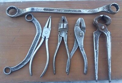 vintage 1950s pliers nail pull spanners TOOLS