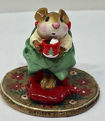 Wee Forest Folk Hot Cocoa Christmas Mug LIMITED Retired Excellent  ADORABLE!!