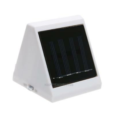 Outdoor 4 LED Solar Powered Stairs Fence Garden Security Lamp Waterproof r#H3