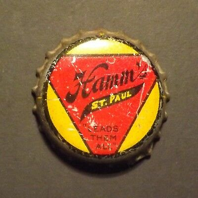 Old Cork Backed Beer Bottle Crown - Hamms, St. paul, MN - No Reserve!