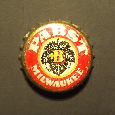 Old Cork Backed Beer Bottle Crown - Pabst #1, Milwaukee, WI - No Reserve!