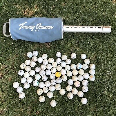 Practice Golf Ball Holder Picker Pick Up Retriever + Balls