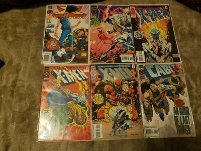 X-MEN LEGION QUEST 7 COMIC BOOK LOT(1995 prequel to the Age of Apocalypse)